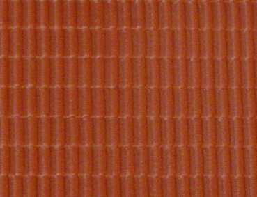 Gepr&auml;gte Kunststoffplatte<br/>(H0 Dachpfanne, rot)
