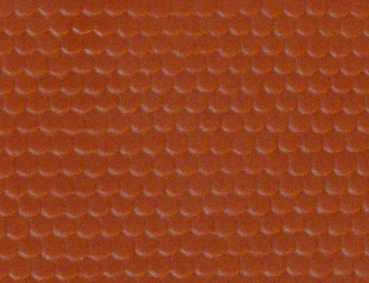 Gepr&auml;gte Kunststoffplatte<br/>(H0/TT Biberschwanz, rot)
