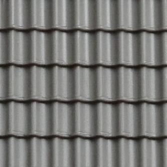 Gepr&auml;gte Kunststoffplatte<br/>(H0/TT Dachpfanne, grau)