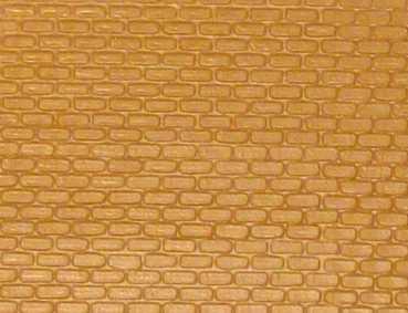 Gepr&auml;gte Kunststoffplatte<br/>(H0/TT Ziegelmauer, gelb)