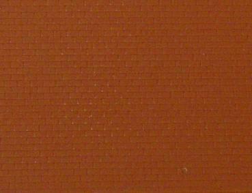Gepr&auml;gte Kunststoffplatte<br/>(N Klinker, rot)