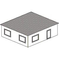 Gestalte ein Modellgeb&auml;ude mit rechteckigem Grundriss und Flachdach<br/>oder einzelne W&auml;nde