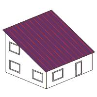 Gestalte ein Modellhaus mit rechteckigem Grundriss und Pultdach<br/>oder einzelne W&auml;nde