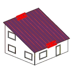 Ortgang-Dachüberstand unten
