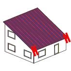 Trauf-Dachüberstand links/rechts (jeweils)