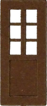 Tür mit mehrfach durchbrochenem Fenster (1:87)