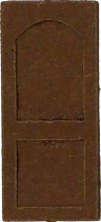 Tür mit Parabelbogen-Ausschnitt (1:87)