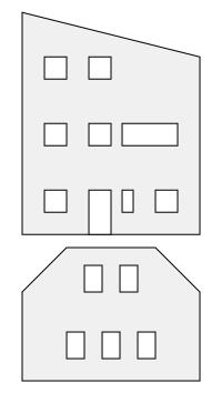 Konfiguratoren f&uuml;r einzelne Modellhaus-W&auml;nde,<br/>Konfiguratoren f&uuml;r einzelne Modellhaus-Dachfl&auml;chen<br/><br/>&Ouml;ffnungen frei positionierbar