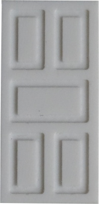 Landhaus-/Villen-Tür mit breiten Fugen, 1:87