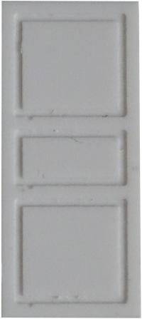 Landhaus-/Villen-Tür mit großen Feldern, 1:87