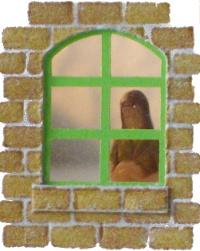 Modellfenster, Fensterbänke und Fensterläden