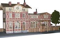 Vergrößern: Bahnhof Steinheim 1870-1930 (1:87)