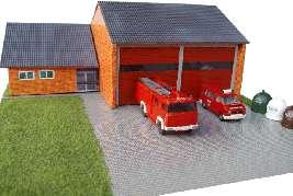 Vergrößern: Kleine Dorf-Feuerwehr-Wache (H0 / 1:87)