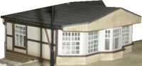 Vergrößern: Bahnhofskiosk in Jossa (H0 / 1:87)