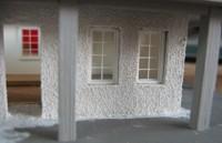 Vergrößern: Verputzte Modellhaus-Wand (H0 / 1:87)