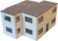 Vergrößern: Modernes Flachdach-Wohnhaus in 1:44