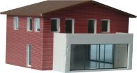 Vergrößern: Einfamilien-Modellhaus im Maßstab 1:160 mit Balkon
