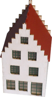 Vergrößern: Treppengiebel-Haus in 1:160