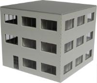 Vergrößern: Bürogebäude im Maßstab 1:120