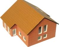 Vergrößern: Einfamilien-Modellhaus in 1:120